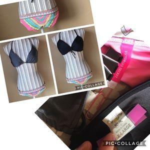 Mixed brands bikini set 2 tops 1 bottom